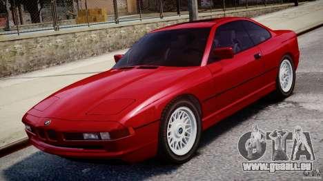 BMW 850i E31 1989-1994 für GTA 4 obere Ansicht