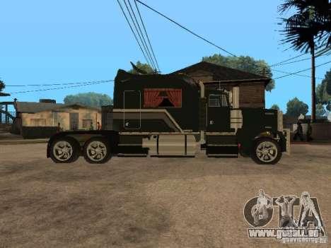 Custom Kenworth w900 - Custom - Trailer pour GTA San Andreas sur la vue arrière gauche