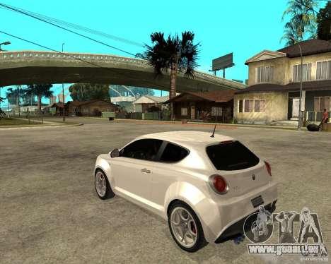 Alfa Romeo Mito pour GTA San Andreas laissé vue