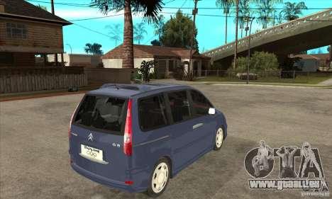 Citroen C8 für GTA San Andreas rechten Ansicht