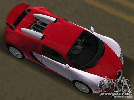 Bugatti Veyron EB 16.4 für GTA Vice City rechten Ansicht