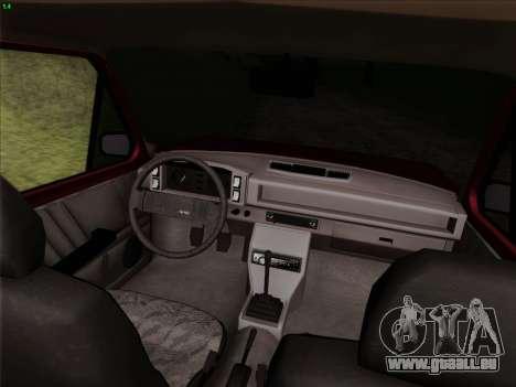 Zastava 128 pour GTA San Andreas vue de dessus
