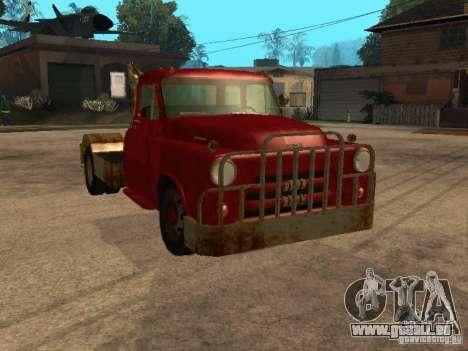 Camion Dodge est rouillée pour GTA San Andreas vue de côté