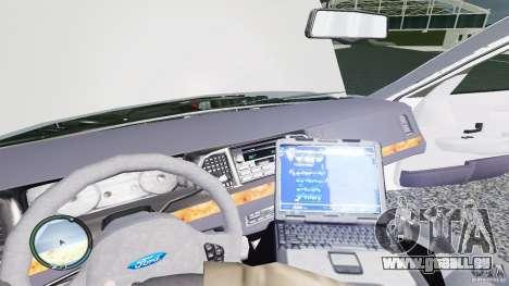 Ford Crown Victoria 2003 NYPD für GTA 4 Innenansicht