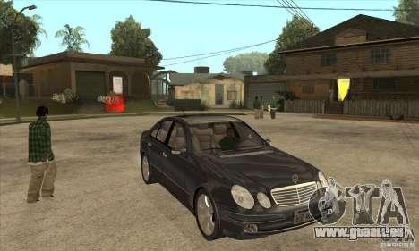 Mercedes-Benz E500 2003 pour GTA San Andreas vue arrière