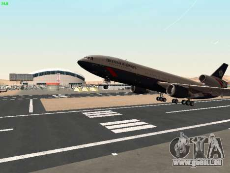 McDonell Douglas DC-10-30 British Airways pour GTA San Andreas vue de côté