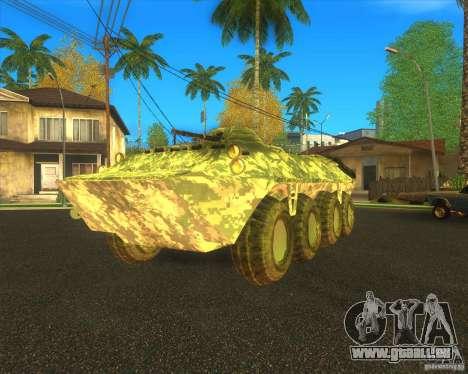 BTR-80 électronique camouflage pour GTA San Andreas vue arrière