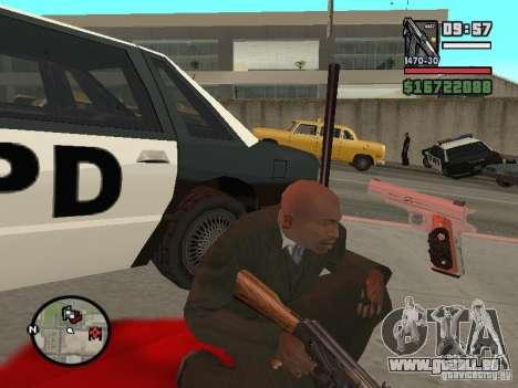 Silverballer de Hitman pour GTA San Andreas troisième écran