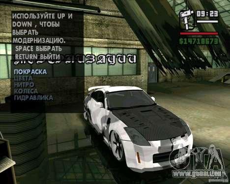 Nissan 350Z Pro Street pour GTA San Andreas sur la vue arrière gauche