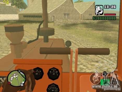 Tracteur DT-75 Postman pour GTA San Andreas vue intérieure