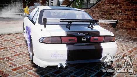 Nissan Silvia S14 [EPM] pour GTA 4 Vue arrière de la gauche
