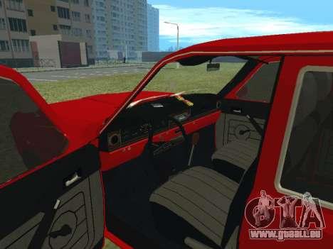 Volga GAZ-24 02 pour GTA San Andreas vue arrière