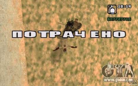 CJ chasse V 2.0 pour GTA San Andreas troisième écran