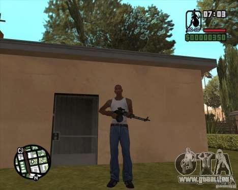 Le RPK-74 pour GTA San Andreas troisième écran