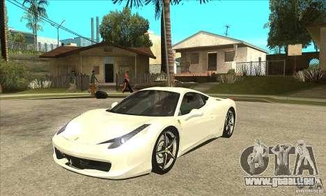 Ferrari 458 Italia 2010 v2.0 für GTA San Andreas