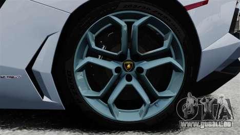 Lamborghini Aventador LP700-4 2012 v2.0 EPM pour GTA 4 Vue arrière