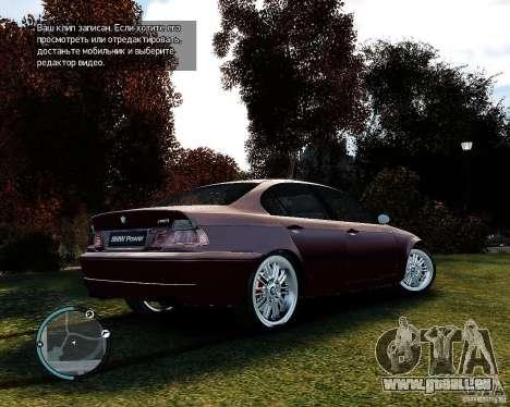 BMW 320i E46 v1.0 pour GTA 4 Vue arrière de la gauche