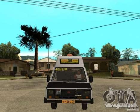 RAPH 22038 taxi pour GTA San Andreas vue arrière