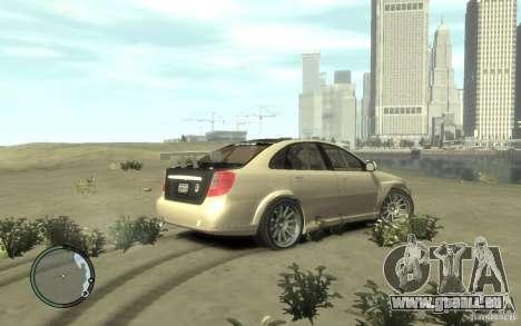 Chevrolet Lacetti Street Tune pour GTA 4 Vue arrière de la gauche