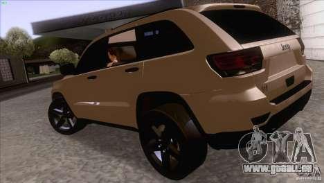 Jeep Grand Cherokee 2012 für GTA San Andreas rechten Ansicht