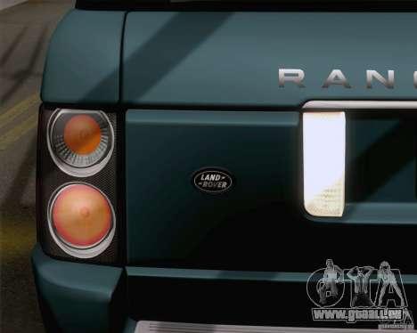 Land Rover Range Rover Supercharged 2008 für GTA San Andreas Innenansicht