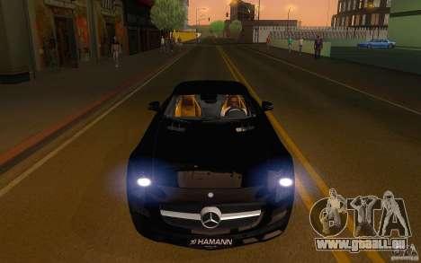 Mercedes Benz SLS HAMANN pour GTA San Andreas vue arrière