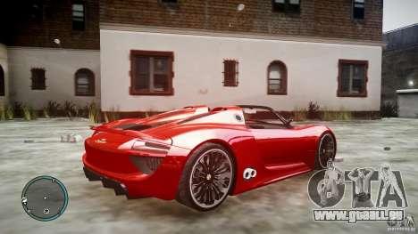 Porsche 918 Spyder Concept für GTA 4 linke Ansicht