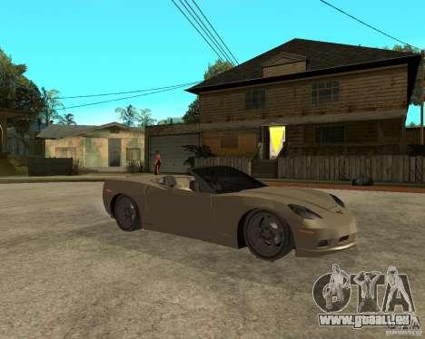 2005 Chevy Corvette C6 für GTA San Andreas rechten Ansicht