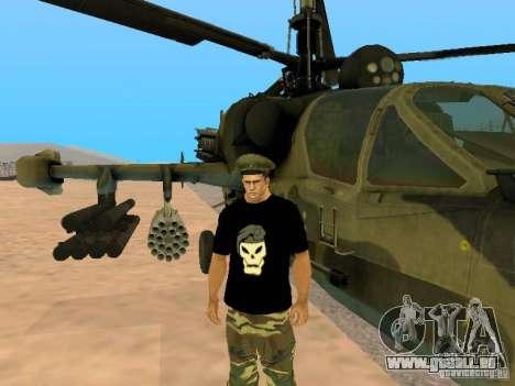 KA-52 Alligator für GTA San Andreas linke Ansicht