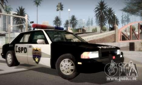 New Police LS für GTA San Andreas zurück linke Ansicht