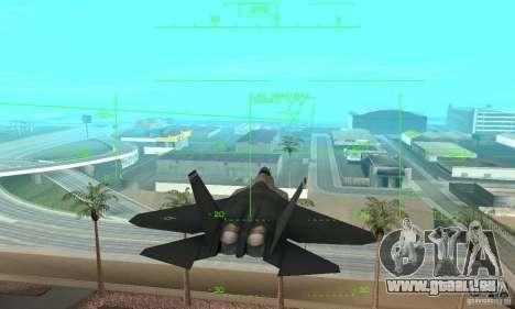 YF-22 Standart pour GTA San Andreas vue intérieure