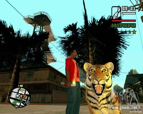 Tiger in GTA San Andreas für GTA San Andreas zweiten Screenshot