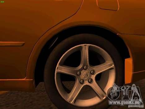 Lexus IS300 Taxi pour GTA San Andreas vue de droite