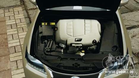 Lexus GS350 2013 v1.0 pour GTA 4 est une vue de dessous