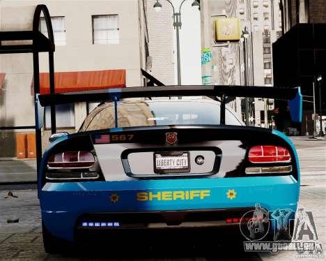 Dodge Viper SRT-10 ACR 2009 Police ELS pour GTA 4 est un droit