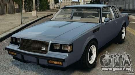 Buick GNX 1987 pour GTA 4