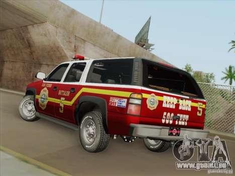Chevrolet Suburban SFFD für GTA San Andreas Motor