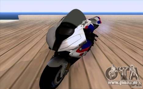 BMW S1000 RR für GTA San Andreas zurück linke Ansicht