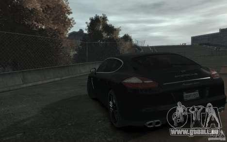 Porsche Panamera Turbo für GTA 4 hinten links Ansicht