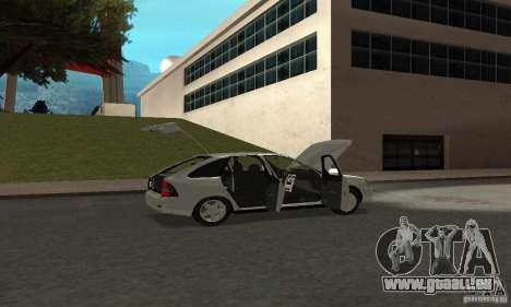 Lada Priora Hatchback pour GTA San Andreas vue de dessus