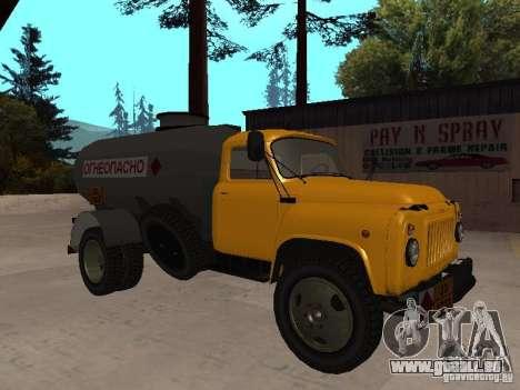 GAZ 53 camion pour GTA San Andreas laissé vue