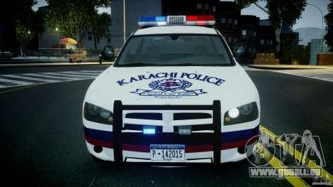 Dodge Charger Karachi City Police Dept Car [ELS] für GTA 4 Innenansicht