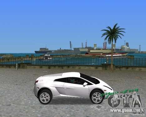 Lamborghini Gallardo pour une vue GTA Vice City de la droite