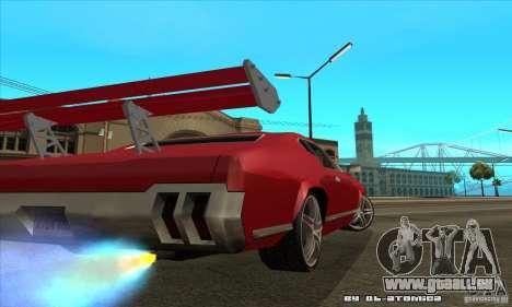 Sabre Drift pour GTA San Andreas sur la vue arrière gauche