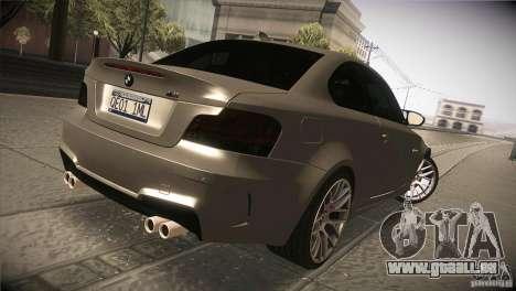 BMW 1M E82 Coupe 2011 V1.0 pour GTA San Andreas vue de droite