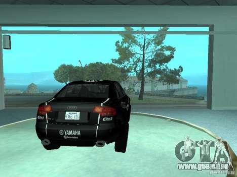Audi RS4 pour GTA San Andreas vue de dessous