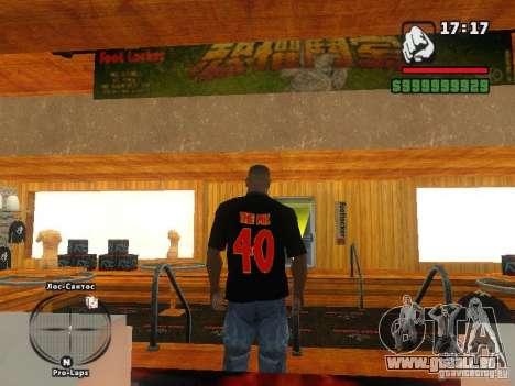 LE T-shirt MIZ pour GTA San Andreas deuxième écran