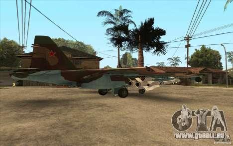 Le Su-25 pour GTA San Andreas sur la vue arrière gauche