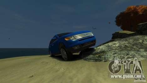 Ford Edge 2007 pour GTA 4 est une vue de l'intérieur