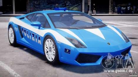 Lamborghini Gallardo LP560-4 Polizia pour GTA 4 vue de dessus